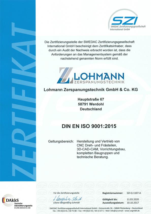 Lohmann Zerspanungstechnik GmbH